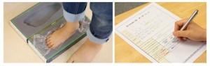 足型採取、オーダーシート記入