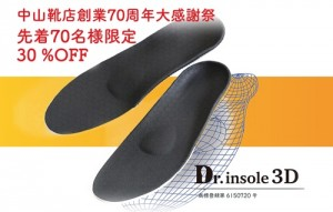 Dr.insole3D30%OFF告知画像メイン